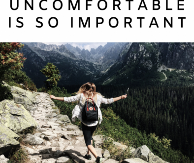 Being Comfortable with Being Uncomfortable